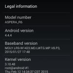 Aspera R6 - Phone Info