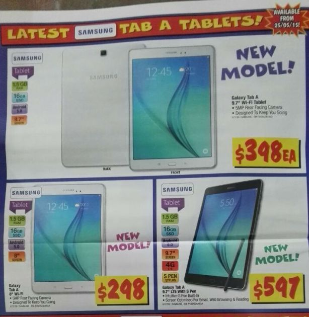 Galaxy Tab A Tablets at JB Hifi