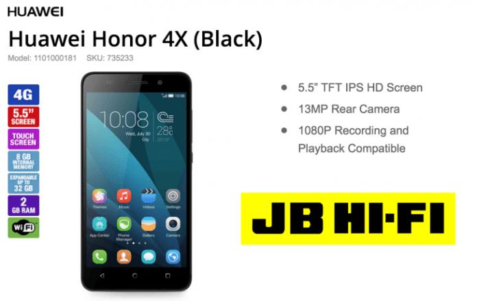 Honor 4x JB Hifi