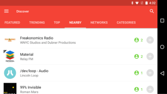 Pocket Casts - Nearby