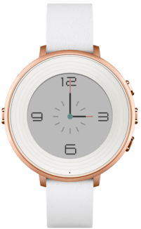 Rose Gold with White Leather