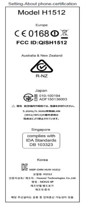 Nexus 6p e label