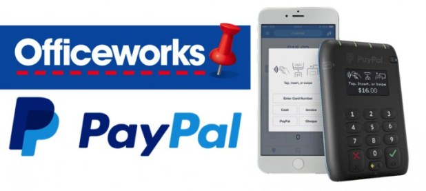 Paypal tap n go mobile card reader now available through officeworks paypal tap n go officeworks header image reheart Images