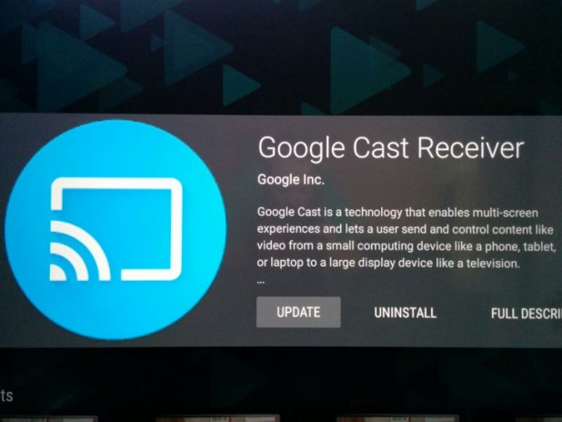 Google Cast Receiver Update
