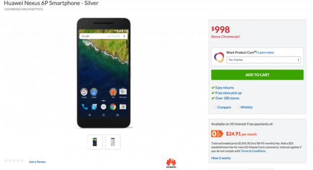 Harvey Norman - Huawei Nexus 6P Chromecast