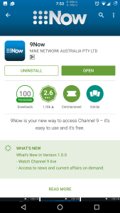 Nine Network Australia Adds Live Streaming To 9Now - Ausdroid