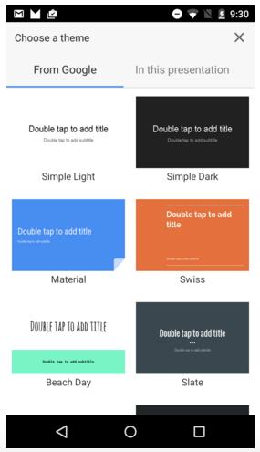 Google Sheets - Themes