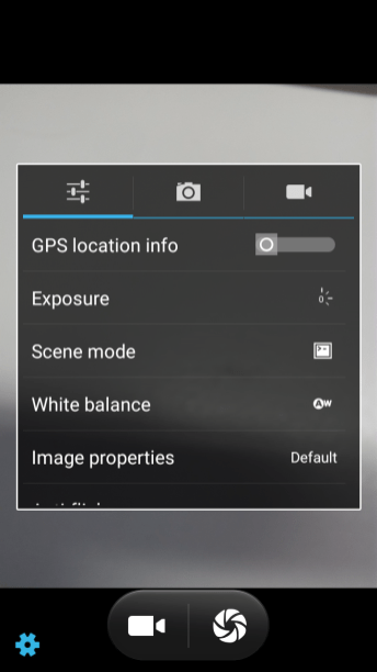 Camera UI Settings