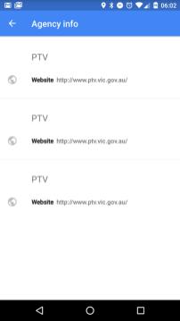 Google Transit - PTV