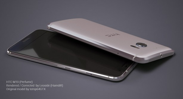 HTC 10 Silver - Black Front