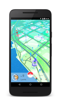 Zoomed out view of the Pokémon GO Game Map