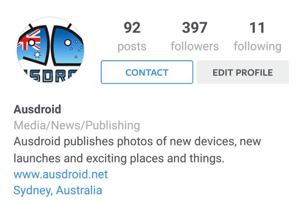 instagram business profiles