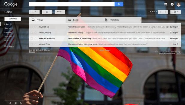 Pride theme in Gmail_2016