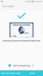 American Express is supported.