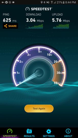 Speedtest slow