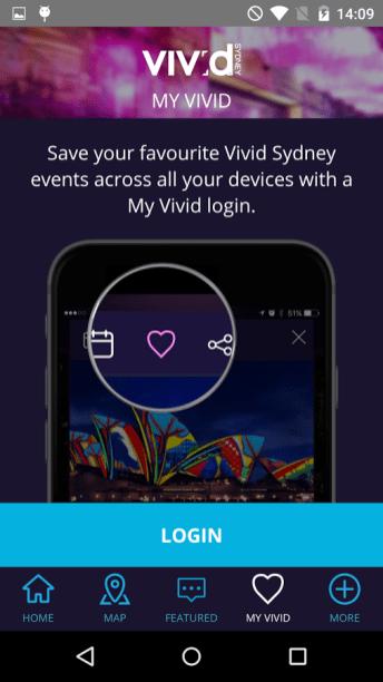 Vivid Sydney App - My Vivid