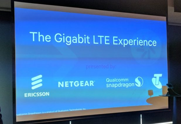 Telstra shows off world's first Gigabit LTE live in Sydney