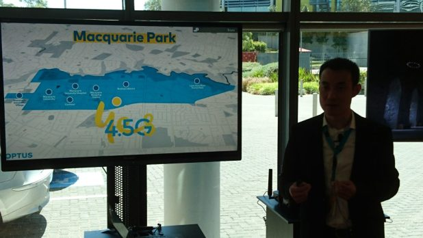 optus macquarie park 4.5G test cell towers