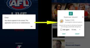Workaround for rooted Android users wanting to use AFL Live Official App