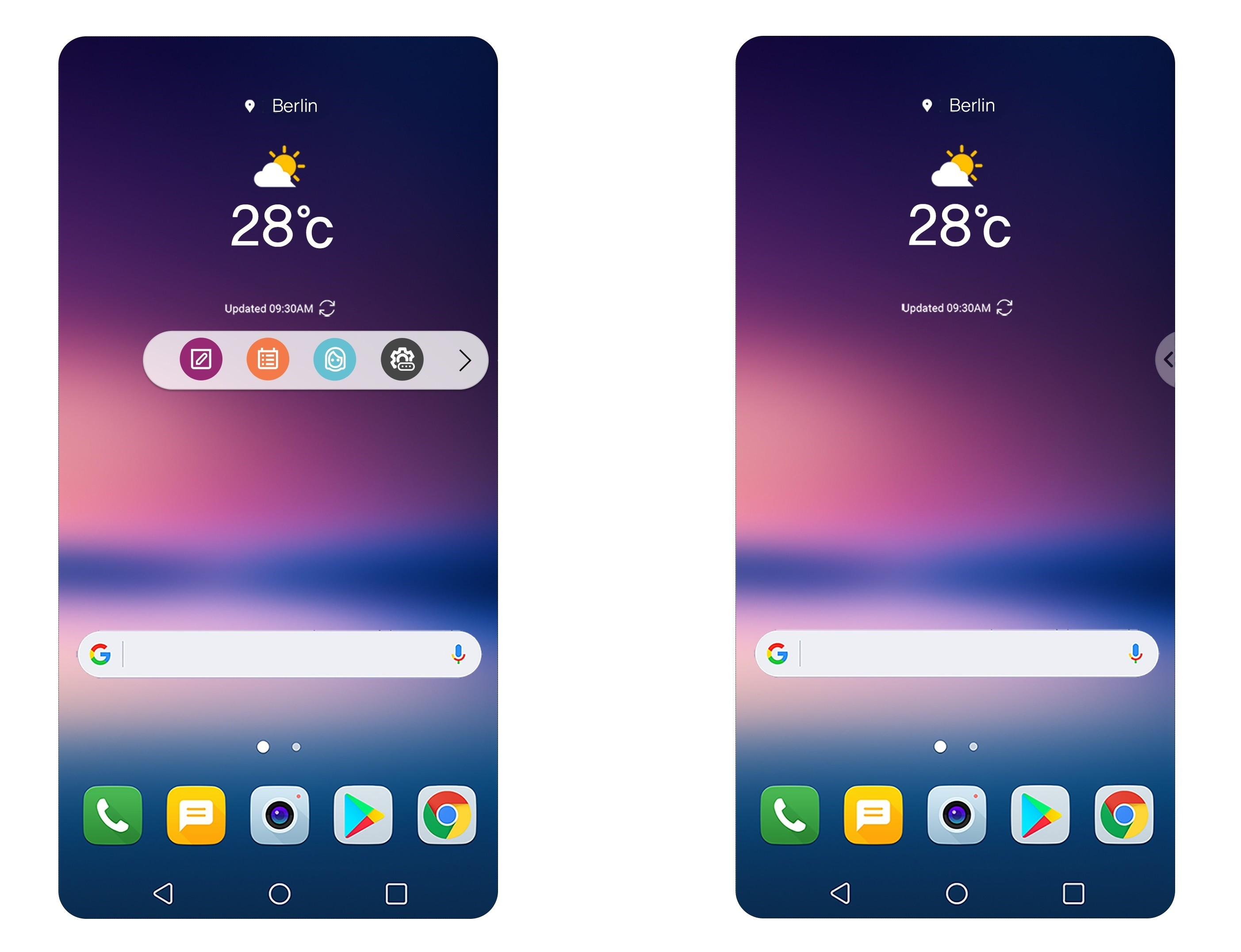LG V30 ditches secondary notification display in favour of floating bar