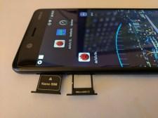 Nano Sim and MicroSD card slots