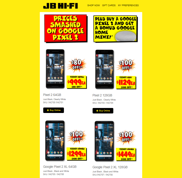 new concept 9f3df 17a82 JB Hi-Fi have discounted the Google Pixel 2 phones by up to $100 ...