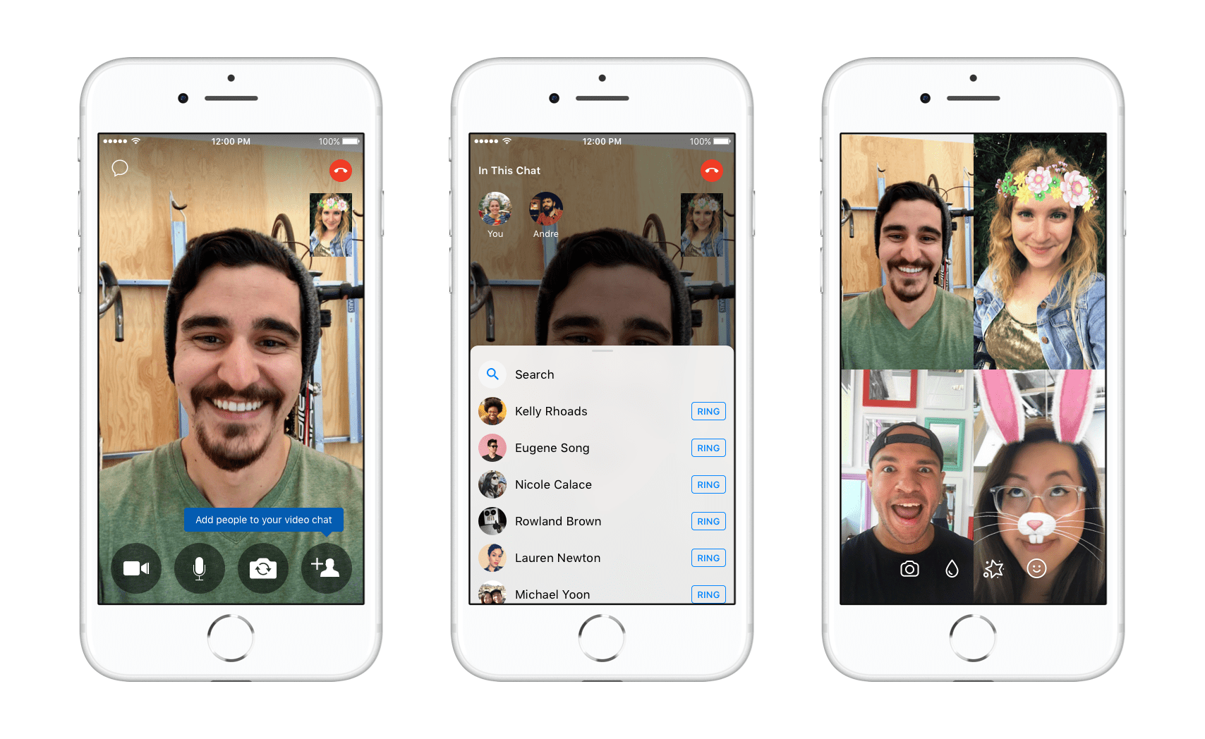 Facebook Messenger Lets Users Add People to In-Progress Calls