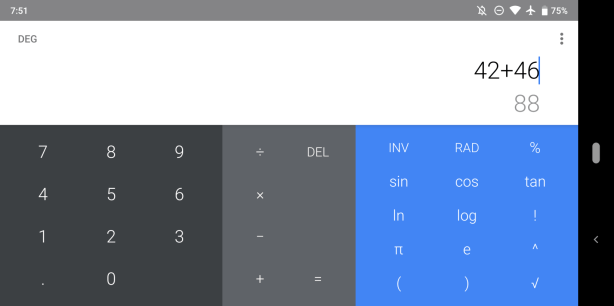 Version 7.4 of Google Calculator - Screenshot 3