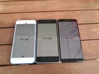 Left to Right: PIxel, Pixel 2, Pixel 3