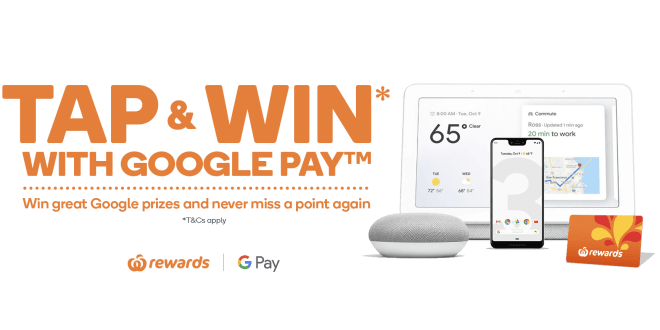 Woolworths giving away a host of Google Prizes and it is