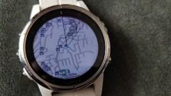Fenix 5S plus navigation screen