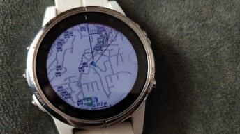 Fenix 5S plus navigation screen