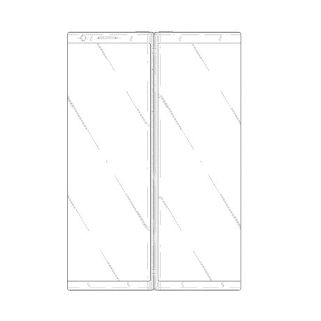 Samsung dual screen folding phone patent