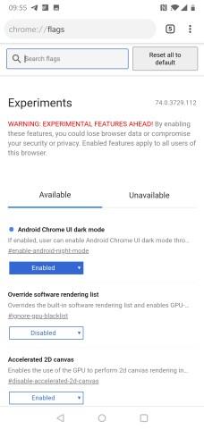 Flags: Enable UI Dark Mode