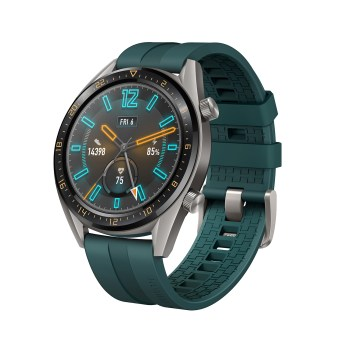 HUAWEI WATCH GT Active_Dark Green Strap_FRONT RIGHT