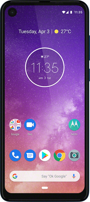 Motorola one Vision_ROW_Sapphire Gradient_Camera Detail 3
