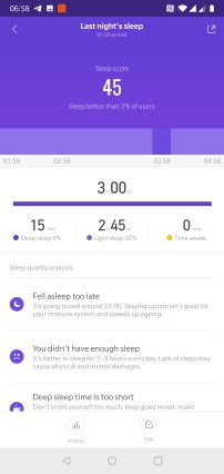 MiBand 4 Sleep