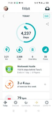 Fitbit Step Count 1