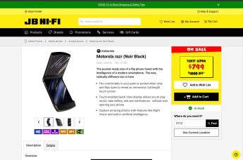 JB Hi-Fi Moto RAZR discounted price