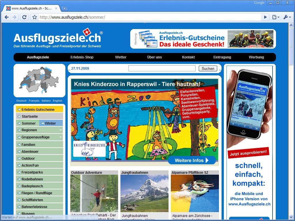 Ausflugsziele.ch Sommer Special 2010