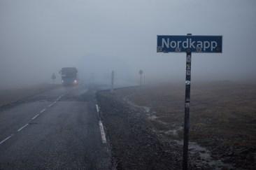 Nordkapp bei Nebel