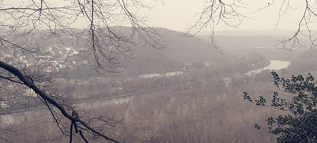 Höhenblick von Essen-Kettwig auf die Ruhr