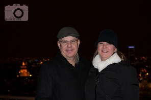 Mom and dad on the Eiffel Tower