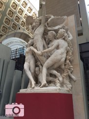 The main hall of the Musee d'Orsay is filled with statues and sculptures