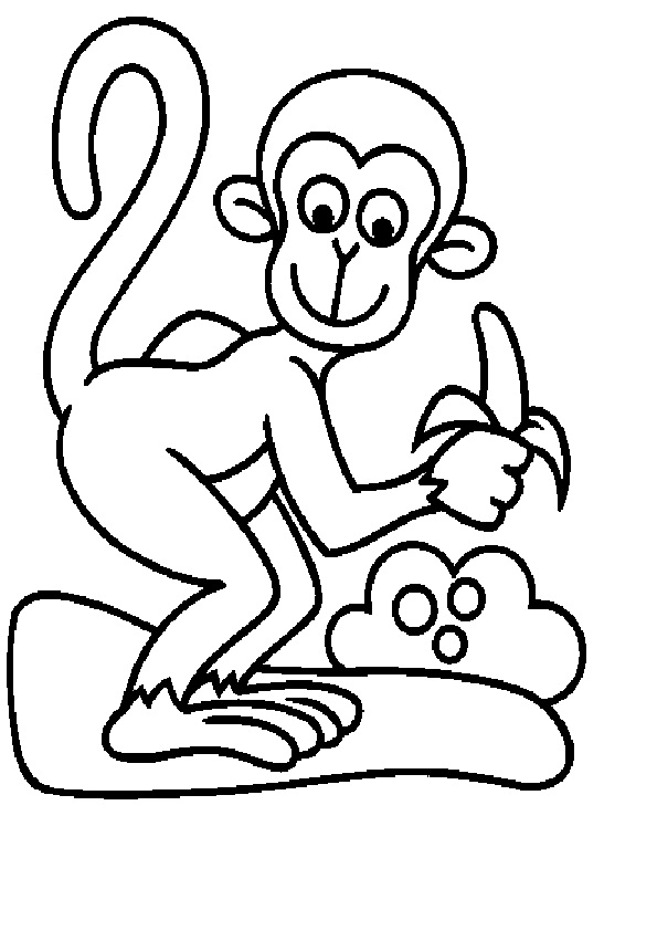 Ausmalbilder Affe ausmalbilder