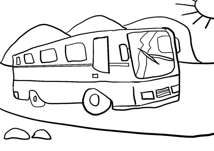 Malvorlagen Bus 01 Ausmalbilder