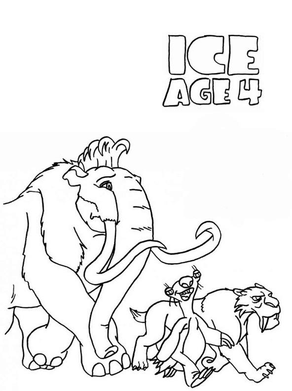Ausmalbilder Ice Age 4 Ausmalbilder Und Malvorlagen