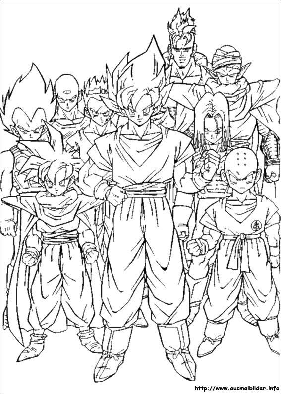 Dragon Ball Z malvorlagen