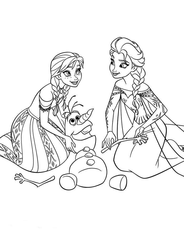 Ausmalbilder Fr Kinder Disney Frost Malvorlagen