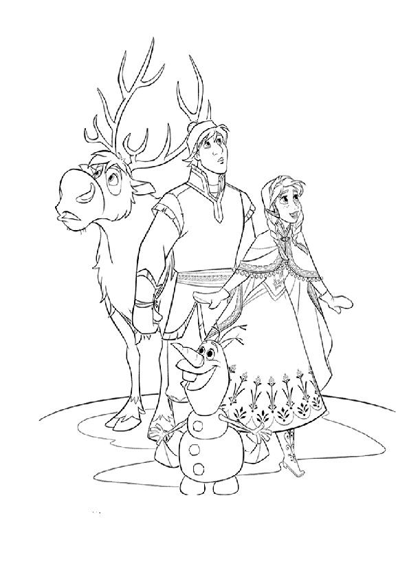 Ausmalbilder disney eiskönigin-25 Ausmalbilder Disney